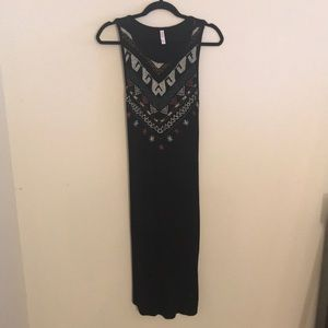 Black, Mid-Calf Dress.